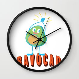 Bravo Applause Avocado Funny Lecture Gift Wall Clock