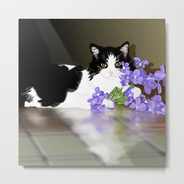 Cherokee Kitty Metal Print