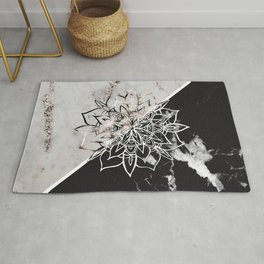 Yin Yang Mandala on Marble #1 #decor #art #society6 Rug