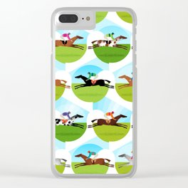 Race Day Clear iPhone Case