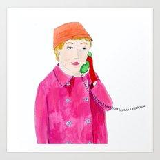 Doris Day on the phone Art Print