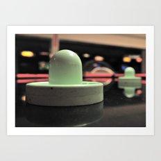 Air hockey aesthetics Art Print
