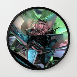 Colorful 3D Reflections Wall Clock