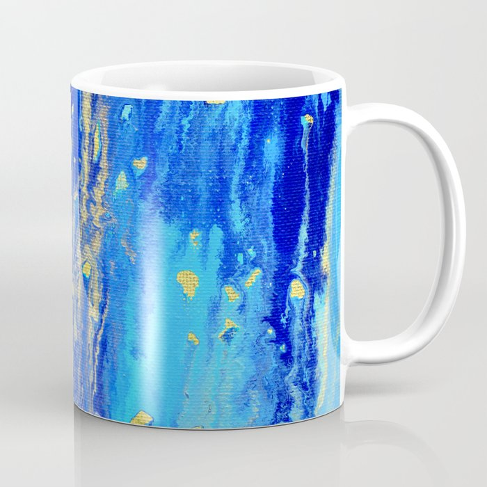 Blue & gold abstract 171010 Coffee Mug