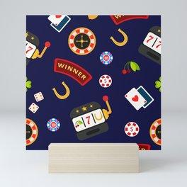 casino pattern Mini Art Print