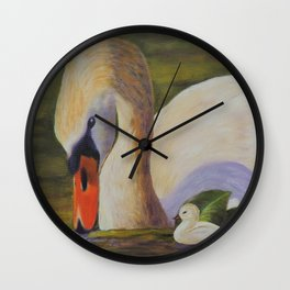 Calm of swan   Le calme du cygne Wall Clock