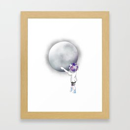 The Child and The Moon Framed Art Print