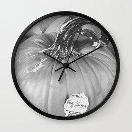 Big Stem Pumpkin Wall Clock