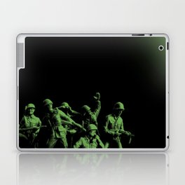 Plastic Army Man Battalion Black and Green Laptop & iPad Skin