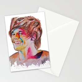 Louis Tomlinson watercolour Stationery Cards