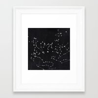 constellation Framed Art Prints featuring Constellation by Mille Dørge