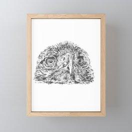 Golden Eagle Head Framed Mini Art Print