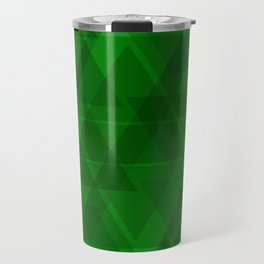 Bright green triangles in intersection and overlay. Travel Mug