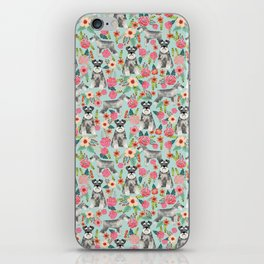 Schnauzer floral must have dog breed gifts for schnauzers owners florals iPhone Skin