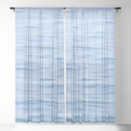 BLUE BODY OF WATER DURING DAYTIME Sheer Curtain