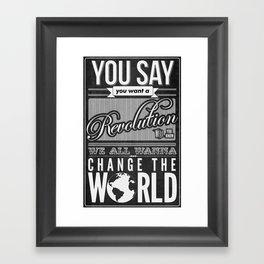 Revolution.  Framed Art Print