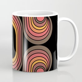 Desert Blaze Retro 70s geometric flower Coffee Mug