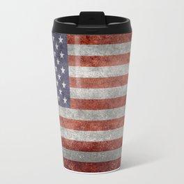 USA flag, High Quality retro style Travel Mug