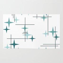 Mid Century Modern Stars (Teal) Rug