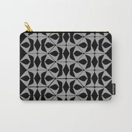 DISTORTION AND PERCEPTION PATTERN  - Black and white Carry-All Pouch