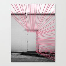 White Door, Red-Pink Prism Canvas Print