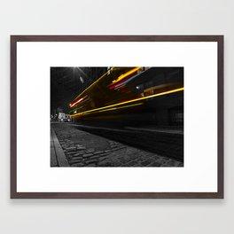 DUMBO Light trail Framed Art Print