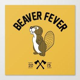 Beaver Fever - Black and White Canvas Print