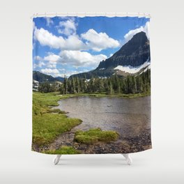 Mountain Bliss in Summer Shower Curtain