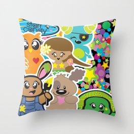 Starr Candy Throw Pillow
