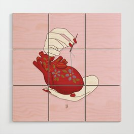 Heart - ( care for your soul ) Wood Wall Art