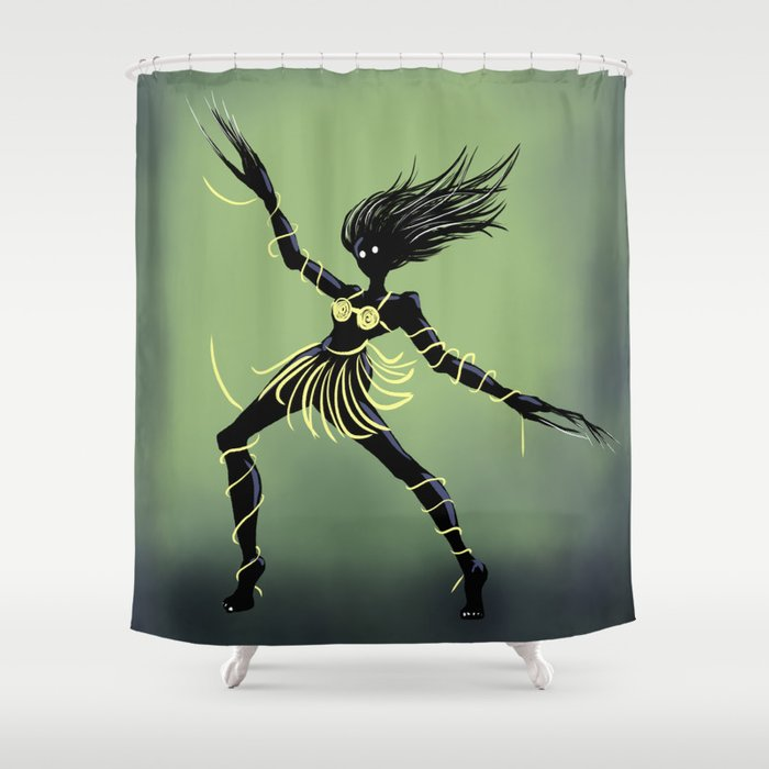 Creepy Midnight Dancing Girl Shower Curtain