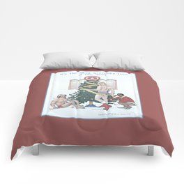 Team Cap Nice Pinup Holiday Card Comforters
