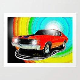 71 Chevelle Art Print