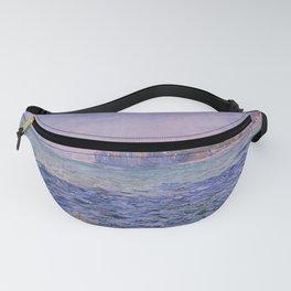 Claude Monet - Shadows on the Sea - Cliffs at Pourville Fanny Pack