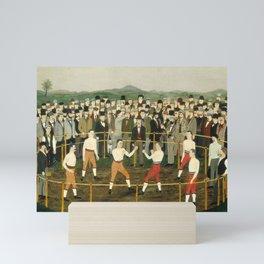 Vintage Boxing Painting - Folk Art Mini Art Print
