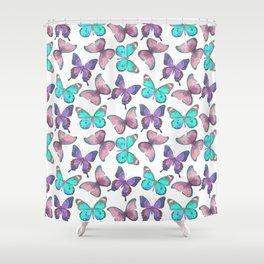 Flutter Butterfly Pattern Shower Curtain