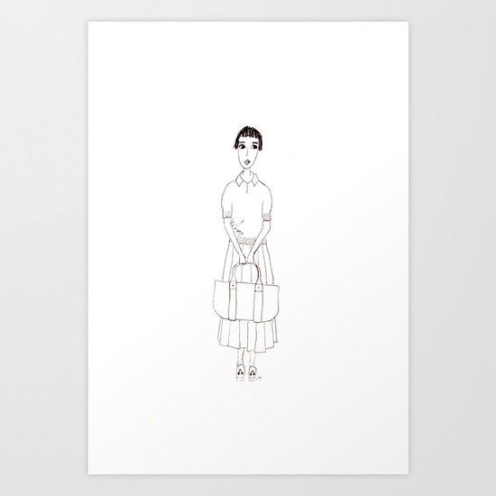 girl in white Art Print