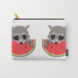 Raccoon Eats Watermelon  Carry-All Pouch