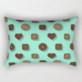 Box of Chocolates Pattern Rectangular Pillow