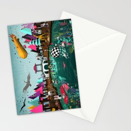 Chinesse Bridge  Stationery Cards