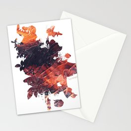 Mask Flow Fire Stationery Cards