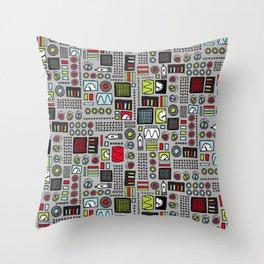Robot Controls Throw Pillow