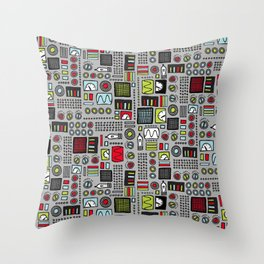 Robot Controls Throw Pillow