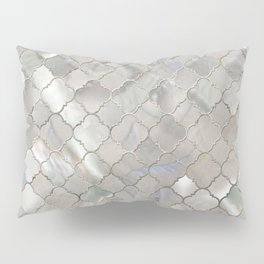 Quatrefoil Moroccan Pattern Mother of Pearl Pillow Sham