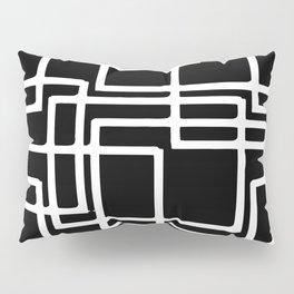 Interlocking White Squares Artistic Design Pillow Sham