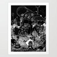 alt j Art Prints featuring 1945 ALT ALT by deathbylolis