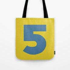 Number 5 Tote Bag