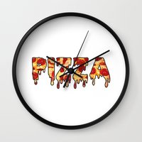 pizza Wall Clocks featuring Pizza... by radoverlays
