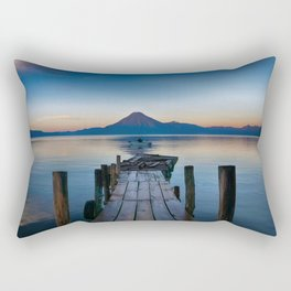 The Dock Sunset (Color) Rectangular Pillow