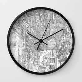 Kowloon walled city. Hong Kong Wall Clock